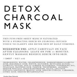 DETOX CHARCOAL SHEET MASK